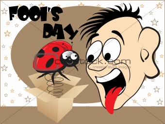 illustration cartoon and spring with insect