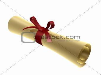 certificate scroll