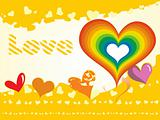 yellow love card