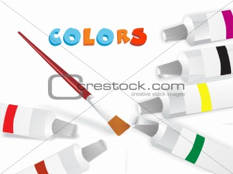 paint color and brush, vector wallpaper