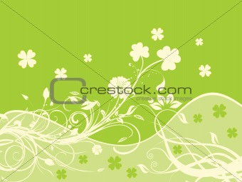 swirl design shamrock backgrond 17 march