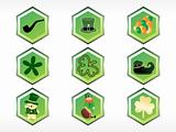 st. patrick's button design vector 17 march