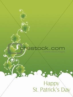 green background with stylish shamrock