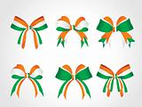 patriotic symbolic bow of india solated on white