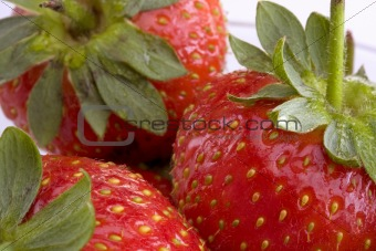 Close-up detail of strawberries