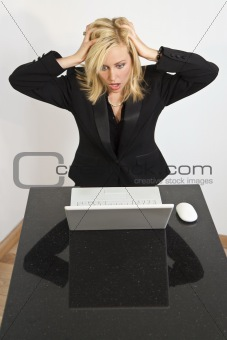 Beautiful Woman Having Computer Problems