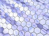 Waved hexagon space
