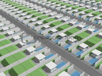 Total city suburbs