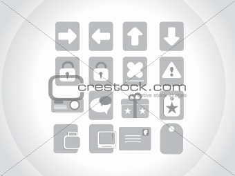 small icons for multipurpose use, gray