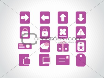 small icons for multipurpose use, purple