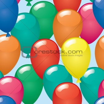 Abstract balloons background.
