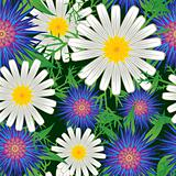 Abstract flowers background.
