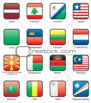 Flag icon set (part 7)