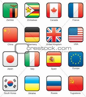 Flag icon set (part 13)
