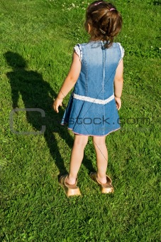 Little girl with slip-on