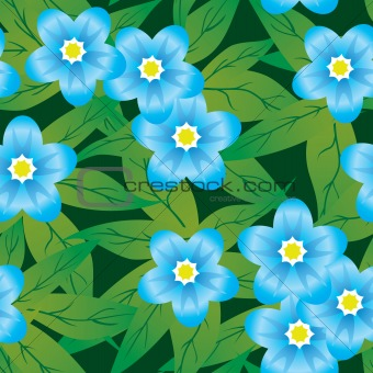 Abstract forget-me-nots flowers background.