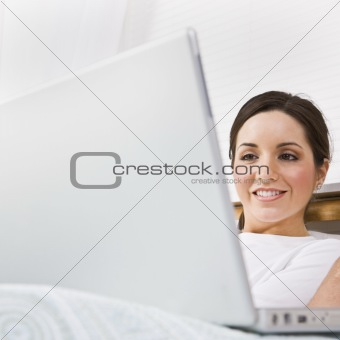 Beautiful Woman Using Laptop