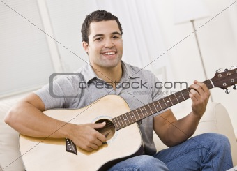 Attractive Man with Guitar