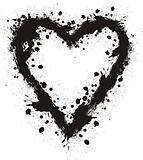vector grungy heart