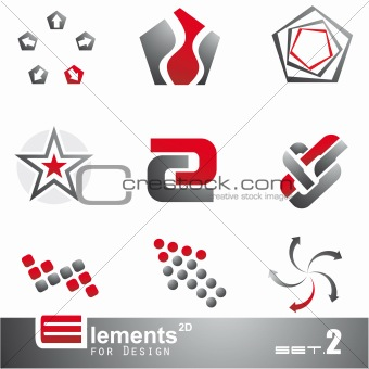 Abstract 2D Elements - Set 2
