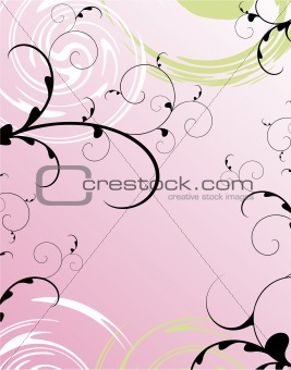 Abstract Rose Card