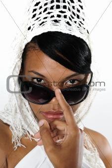 African sunglasses beauty