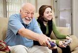 Senior Man Playing Video Games