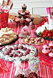 shot of food table of yummy treats