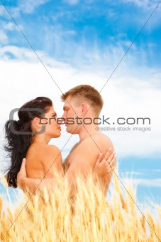 Couple  in wheat
