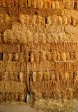 golden straw bales wall and tools