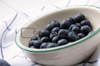 Fresh blueberries in a bowl.