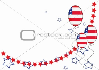 American patriotic background for Independence Day