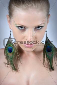 Close-up beautiful fashion model