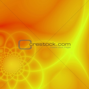 Abstract yellow & orange fractal background