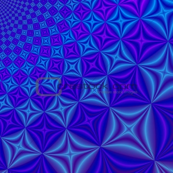 Abstract blue &amp; lilac fractal rendered background