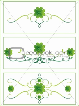 accent shamrock with curve design 17 march