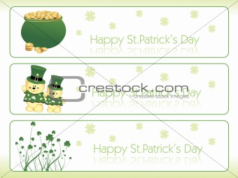 three clover banner with diffrent design 17 march