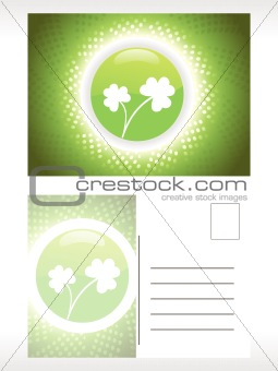 background with circle and shamrock