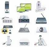 Vector detailed computer parts icon set. Part 2