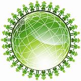 People Green Globe Icon