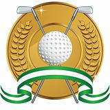 Golf Themed Background - laurel coin