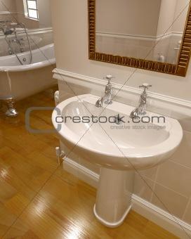 3d render of contemporary bathroom