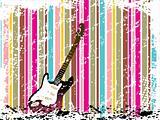 grunge frame with guitar