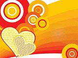 abstract funky love background