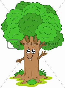 Cartoon tree character