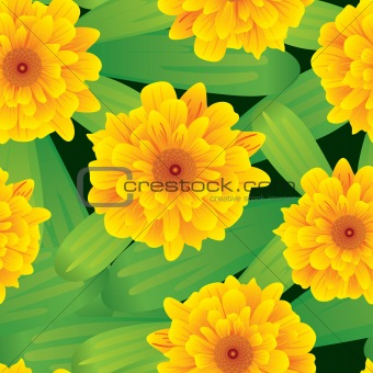 Abstract flowers background. Seamless.