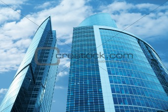 Modern skyscrapers business centre in Moscow, Russia