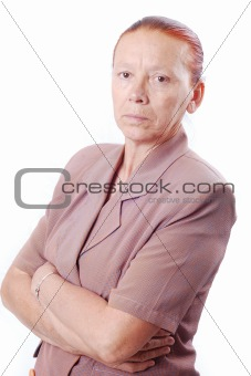 Portrait of middle aged white woman