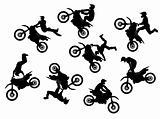 Motocross rider jump