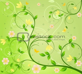 Abstract floral design.